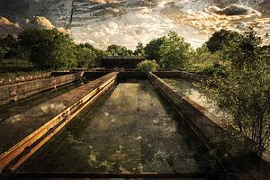 Sedimentation-Tanks-at-Abandoned-Sewage-Treatment-Plant-1